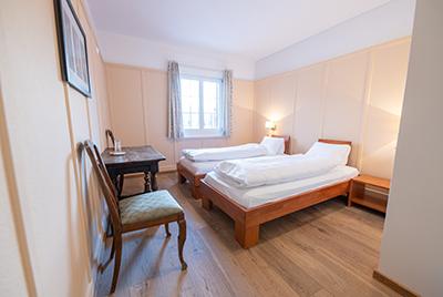 Einfaches Doppelzimmer Hotel Chesa Spuondas