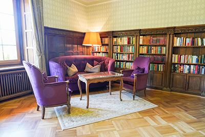 Salon mit Bibliothek